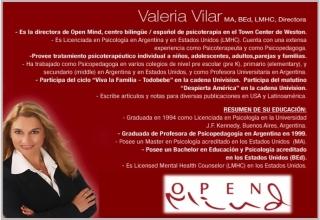 Valeria Vilar Directora Clinica