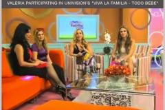Valeria Vilar at Viva la Familia- Univision
